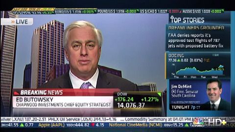Ed Butowsky on CNBC 2-27-13 on Flickr.Ed Butowsky, wealth manager, financial advisor, and managing partner of Chapwood Investment Management, appears on CNBC The Closing Bell to analyze the market and its performance today topping a 5-year high and exactly what we could possibly connect the gains to.