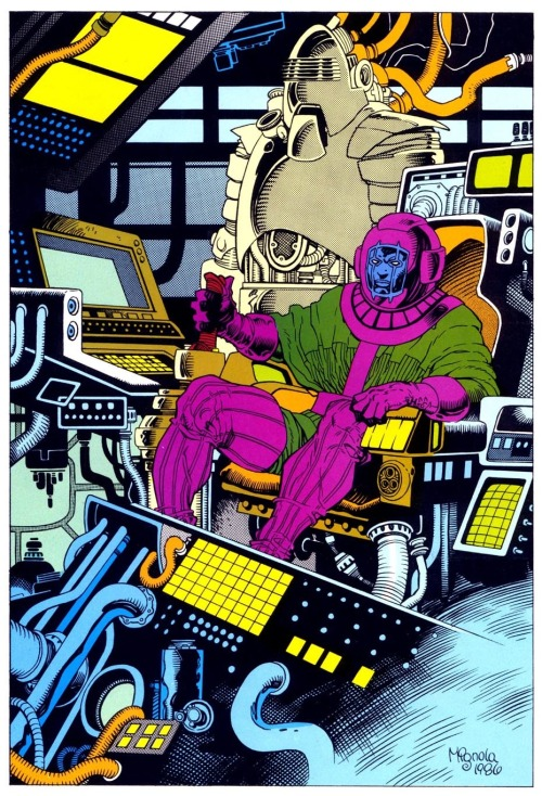 old-gold-soul:  Kang the Conqueror by Mike Mignola