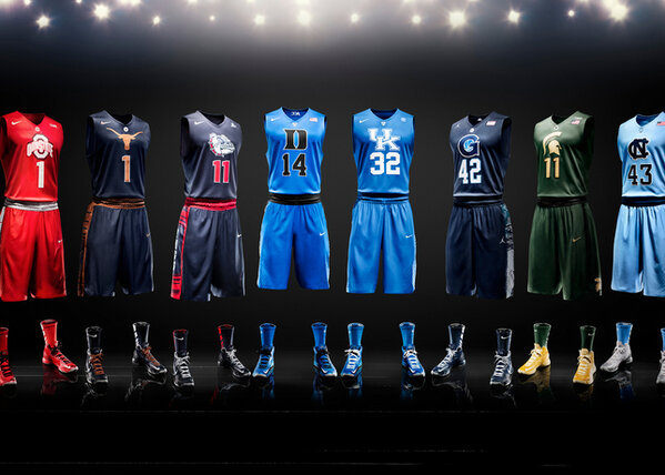 Full line-up of invisible men in Nike Hyper Elite jerseys. Which one is the best?