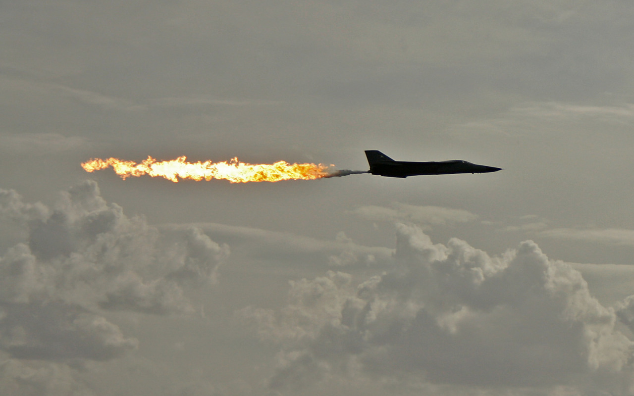 Sometimes you have to dump and burn to get where you want to go. Iconic F-111 pic.