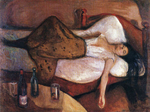 The day after (1894-5)by Edvard Munch