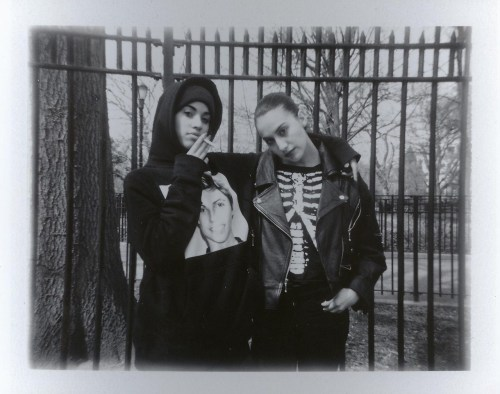 darksilenceinsuburbia:  Queen of Anti-Social. Jude & Mallory.  More analog photos on Queen of Anti-social Jude | http://bambistyle.tumblr.com Mallory | http://malloryllewellyn.tumblr.com/  Via