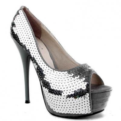 (via Silver Sequins Embellished Stiletto Women's Pumps)