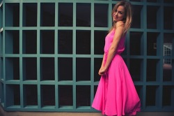 Yumi Kim Leon Dress in Neon Pink  Available now at www.yumikim.com
