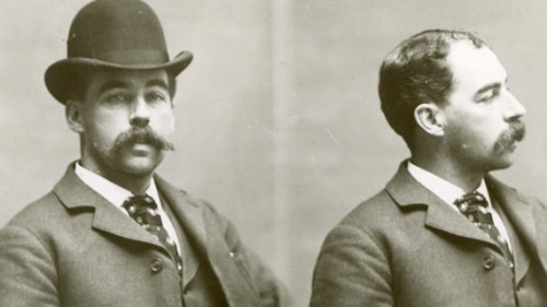"H.H. Holmes started his criminal career as a medical student by stealing corpses from the University of Michigan. He used the corpses to collect insurance money from policies taken out under fictitious names. When he moved to Chicago he started a drugstore empire from which he made a fortune. He built a hundred-room mansion complete with gas chambers, trap doors, acid vats, lime pits, fake walls and secret entrances. During the 1893 World's Fair he rented rooms to visitors. He then killed most of his lodgers and continued his insurance fraud scheme. He also lured women to his ""torture castle"" with the promise of marriage. Instead, he would force them to sign over their savings, then throw them down an elevator shaft and gas them to death. In the basement of the castle he dismembered and skinned his prey and experimented with their corpses. When police grew suspicious about H.H Holmes' activities, he torched the castle and fled. In the burnt hulk of the building, authorities found the remains of over two hundred people. H.H. was caught when one of his insurance schemes was unravelled by Pinkerton detectives. He was hanged on May 7, 1896, after one the first sensational crime trial in America. Not only was Herman the first American serial killer he was also, according to author Scheckter, the first ""celebrity psycho."" Although he never had the historical presence of his contemporary Jack the Ripper, he did leave behind an impressive trail of blood unequalled for almost eighty years."