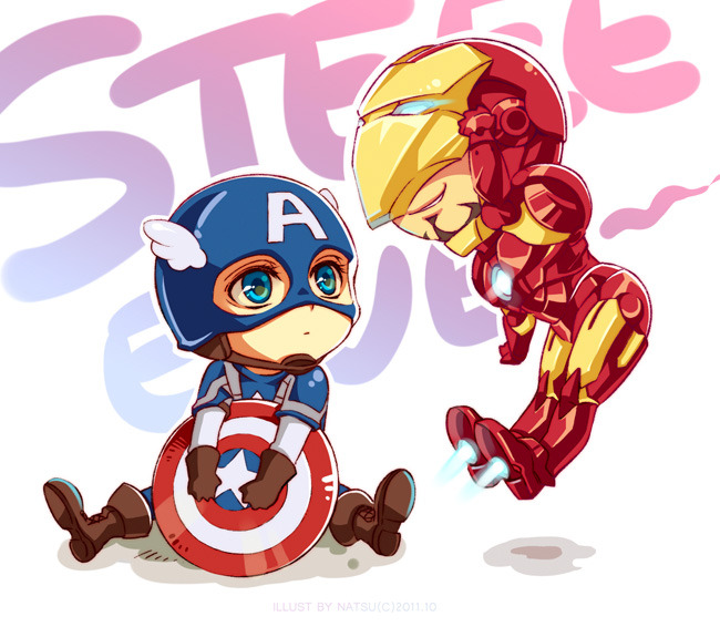 Marvel-Steve and Tony by ~Athew
