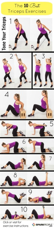 10 Exercises to Work on Triceps!