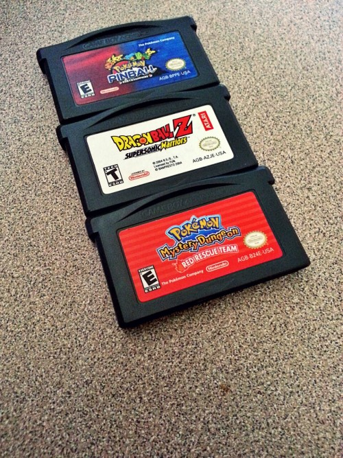 Got some gameboy advance games in the mail! I think they should be fun!