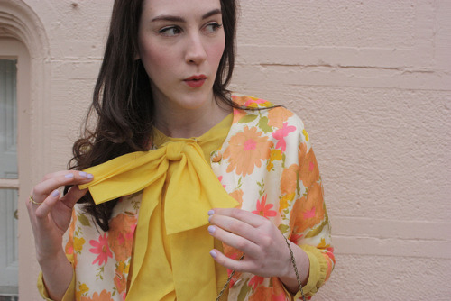 Blogged! Today's Easter outfit, outrageously bright and floral, just like last year!