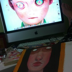Freaky eyes everywhere But  loving the work by Hikari Shimoda.