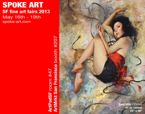 Join us this weekend as Spoke Art will be exhibiting at both fine art fairs here in San Francisco! Learn more here - http://spoke-art.com/blog/