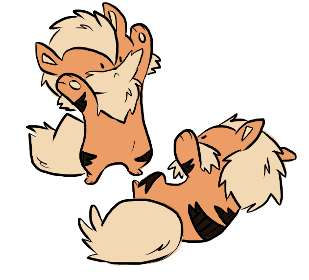 Arcanine cubs Colored Version - By a friend