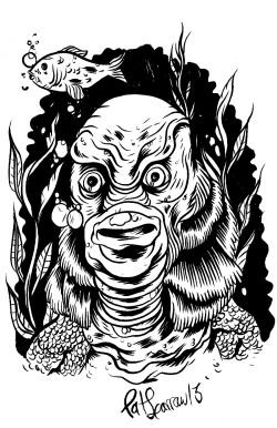 100 days 100 monsters, day #93 The Creature from the black lagoon