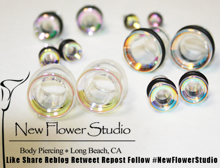 Summer jewelry right here.  These glass iridescent eyelets are always popular this time of year.