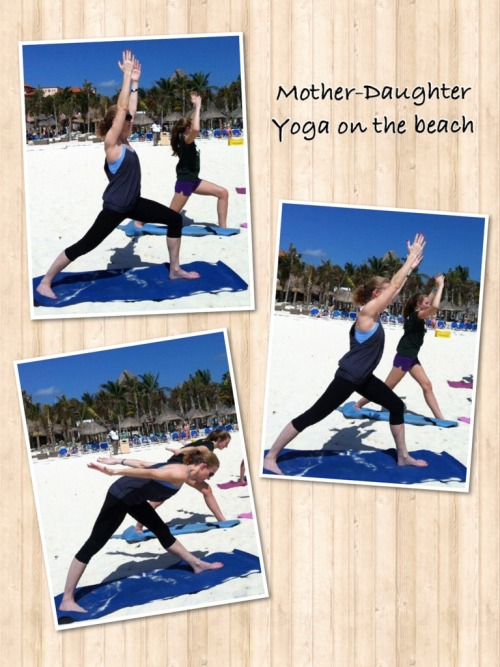 Mother-Daughter Yoga on the beach