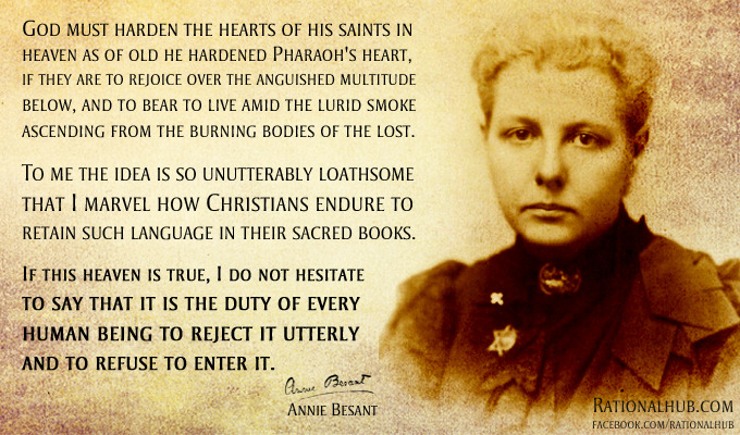 Annie Besant on Hell.. by ~rationalhub