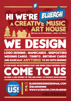 Hi we're bluergh, a Creative Art Music House based in Subang Jaya, Malaysia. HIRE US !