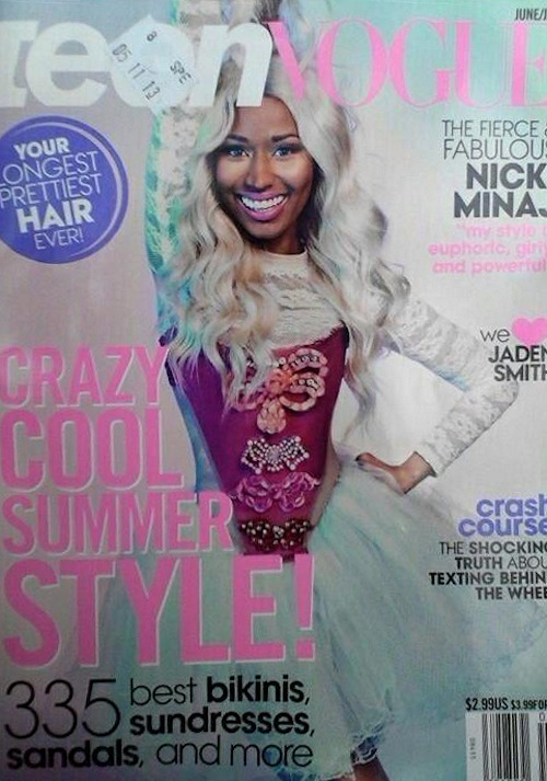"fuckyeahharajukubarbie:   Nicki Minaj on the cover and featured in the June/July issue of ""Teen Vogue"""