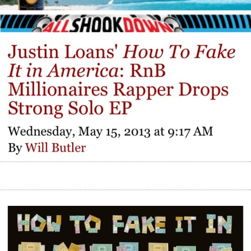 "Thanks @sfweekly for the review/stream of ""How To Fake It In America"" #salute"