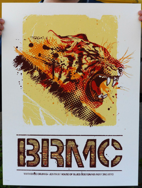 jungleindierock:  Black Rebel Motorcycle Club gig poster by B.c. Print Media  Cool beans!