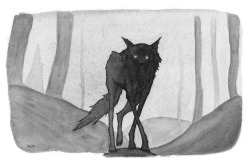 art Black and White wolf alone watercolor ink Woods watercolour lone grey scale canis lupus micron lone wolf Chelsea Wolfe by myself brush pen pentel see you in the darkest night