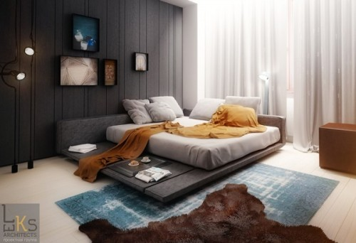 homedesigning:  (via Worldly Apartment in Kiev, Ukraine [Visualized])