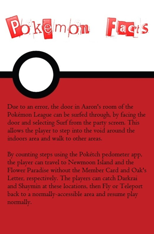 coolpokemonfacts:  Request for legendary Pokemon facts.