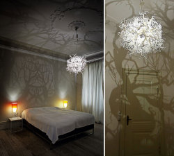 Sculptural Chandelier Creating a Mysterious Atmosphere By Thyra Hilden And Pio Diaz