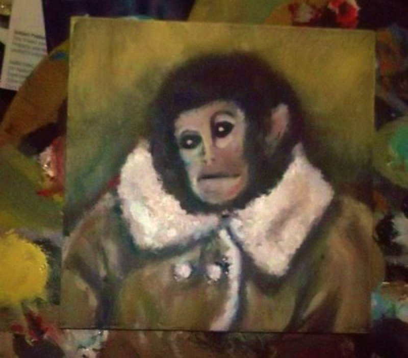 Ecce Homo Ikea Monkey  Christ shall come again. And he shall be tiny, adorable, and ready for winter.