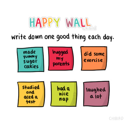 chibird:  And soon you'll have an entire wall full of happy notes. :D