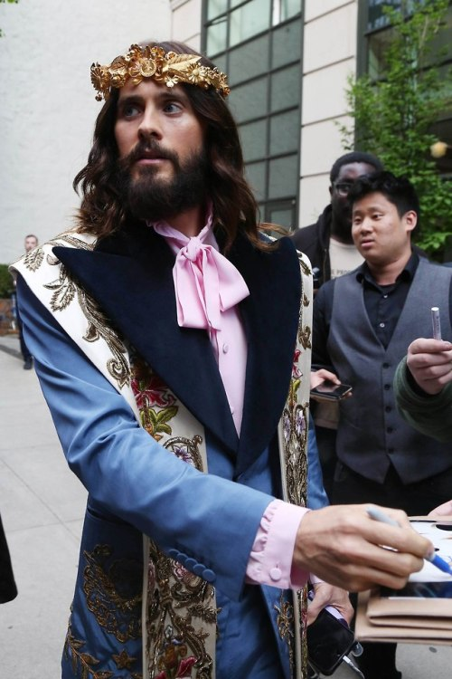 jared leto 30 seconds to mars met gala 2018 met ball 2018 gucci nyc