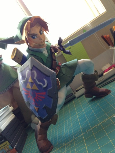 studioofmm:  Almost finished! Just need to attach the sword, then it's off into the woods for pictures :)
