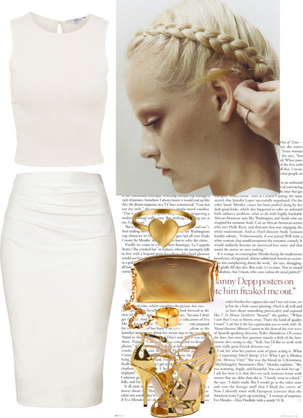 White&Gold by nightmare-on-helm-street featuring donna karan