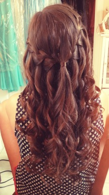 Did my best friend's hair for her prom :)