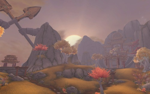 The Golden Pagoda; Shrine of Two Moons, Vale of Eternal Blossoms, Pandaria, 2012