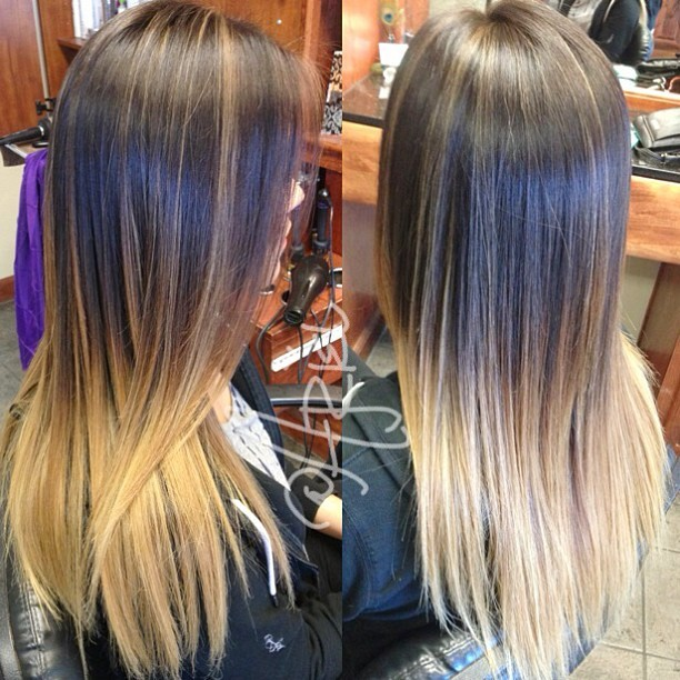 ariellizarraga:  #ombre with #highlights by me #sprkle_makeup at #trendssalon 💇