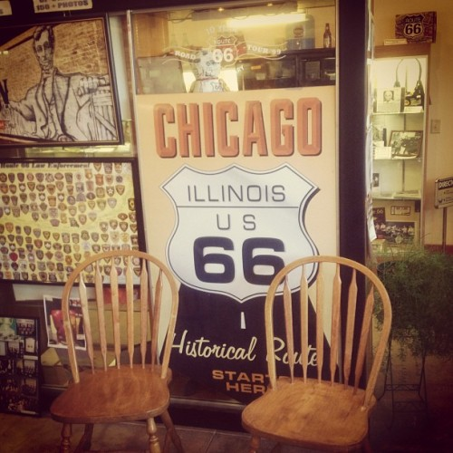 Remnants of U.S Route 66 in Pontiac, Illinois. An iconic highway that ran from Chicago to Los Angeles, nearly 4000 km, from 1926-85! #AmericanHeartland