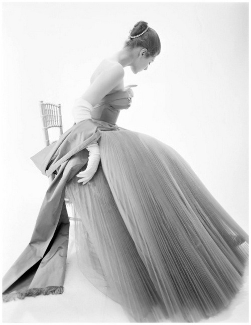 lemontreesoceanbreeze:  Fiona Campbell Walter, Gown by Hardy Aimes, 1953. Photo by Norman Parkinson.