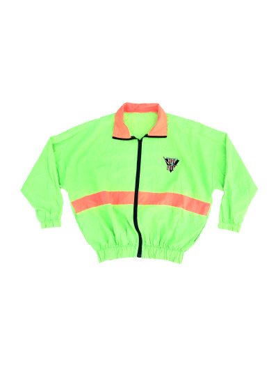 Wicked 80s Bi-Tone Neon High Dive Windbreaker - $60