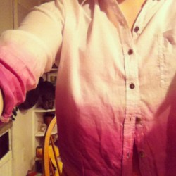 #new #shirt 😍 👌 #purple #pink #croptop #buttonup #dipdyed #love #obsessed 💋🎀👛