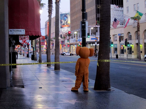 Meanwhile, the bomb threat at the Hooters on Hollywood Boulevard seems downright silly compared to all the shit going on in Boston.