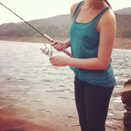 Fishing is fun 🐟#fishing#fish#lake#beautifulnature#stupidbugs