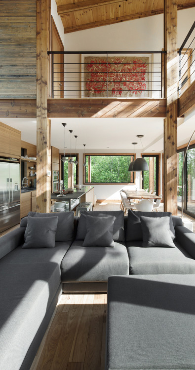 justthedesign:   Living Room The Lac Massawippi Residence By Huma Design et Architecture
