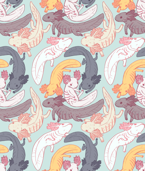 psittacosaurus:  axolotl pattern!!!!feel free to use… but if you use it somewhere public it'd be nice if you credited me :'^