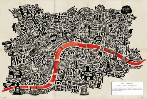 Boots Adventures in London by João Lauro Fonte, from Gestalten's A Map of the World: The World According to Illustrators and Storytellers