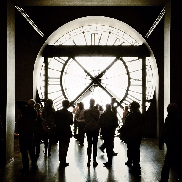 Watching time passing by, at Musée d'Orsay. (à Musée d'Orsay)