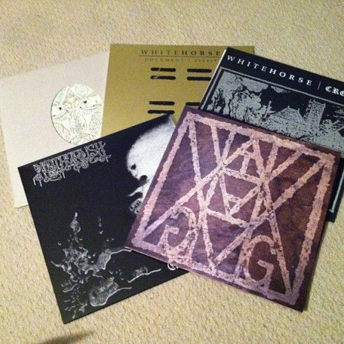 Some heavy stuff in the distro. LPs from #blinddaterecords #noothgrush #whitehorse #haggatha #cross #clone4 #sludge #doom