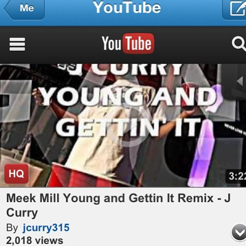 Young and Gettin It Remix over 2,000 views! Go listen to it at YouTube.com/jcurry315 #meekmill #remix #youngandgettinit #hotnewhiphop #datpiff #kirkobangz