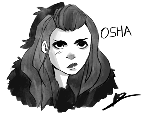 Little Osha sketch. I really, really like her in the series. :)