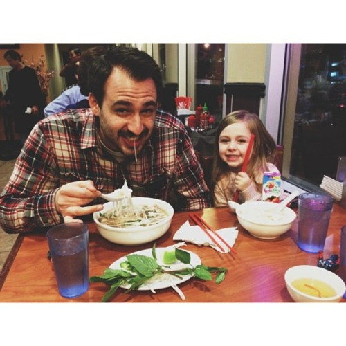 Friday Pho with these goofballs. (at Phở Huỹnh Hiệp)